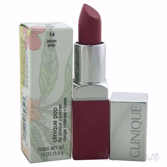 Picture of Clinique Pop Lip Colour + Primer - # 14 Plum Pop by Clinique for Women - 0.13 oz Lipstick