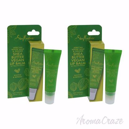 Picture of African Water Mint and Ginger Shea Butter Lip Balm by Shea Moisture for Unisex - 0.5 oz Lip Balm - Pack of 2