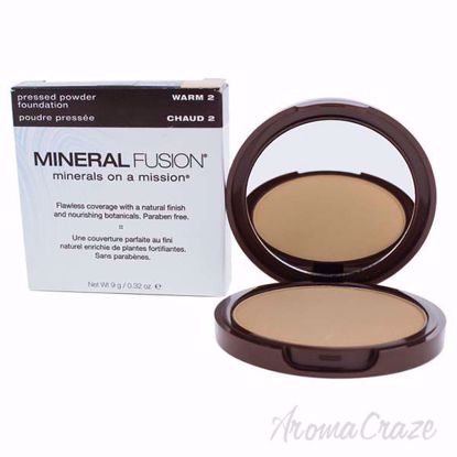 Pressed Powder Foundation - 02 Warm by Mineral Fusion for Wo