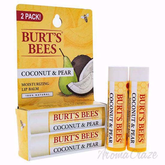 Picture of Coconut & Pear Moisturizing Lip Balm Twin Pack by Burts Bees for Unisex - 2 x 0.15 oz Lip Balm