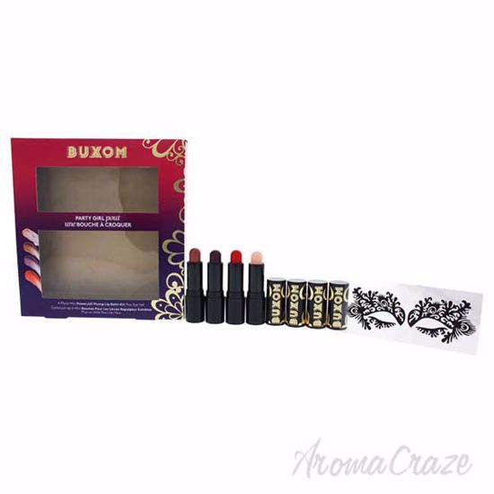 Picture of Party Girl Pout Set by Buxom for Women - 4 x 0.11 oz Mini Powerplump Lip Balm Big-O, Glowing, Fiery,