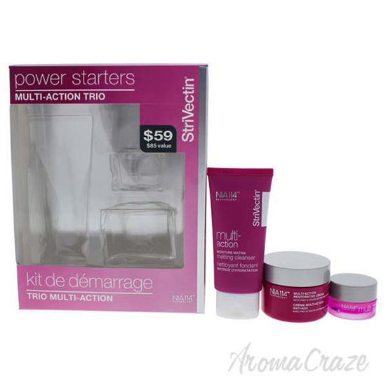 Picture of Power Starters Multi-Action Set by Strivectin for Unisex - 3 Pc 1oz Multi-Action Moisture Matrix Melting Cleanser, 0.17oz Multi-Action R and R Eye Cream, 1oz Multi-Action Restorative Cream