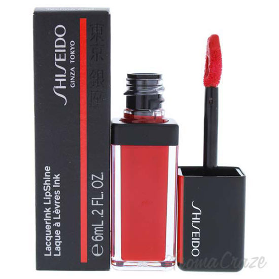 Picture of LacquerInk LipShine - 304 Techno Red by Shiseido for Unisex - 0.20 oz Lip Gloss