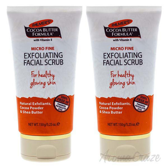 Picture of Cocoa Butter Exfoliating Facial Scrub by Palmers for Unisex - 5.25 oz Scrub - Pack of 2