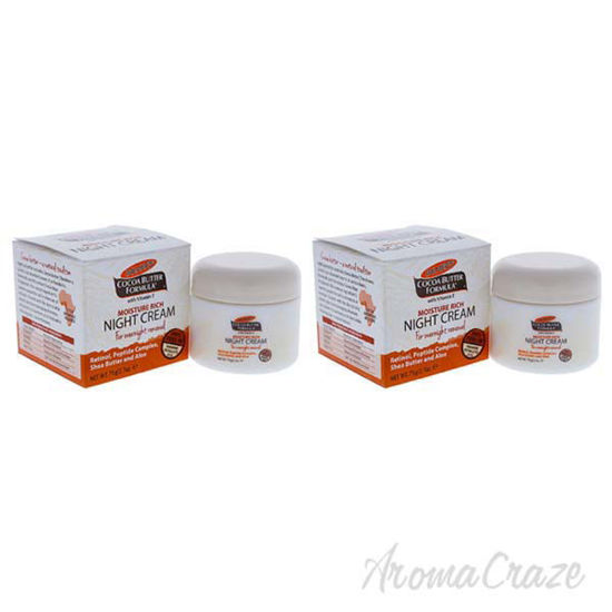 Picture of Cocoa Butter Moisture Rich Night Cream by Palmers for Unisex - 2.7 oz Cream - Pack of 2
