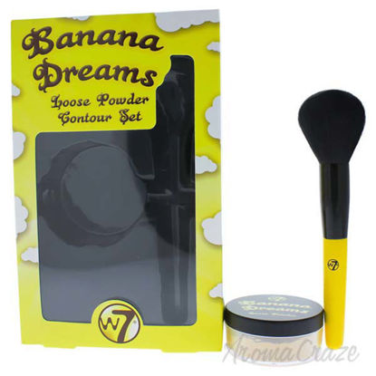 Picture of Banana Dreams Loose Powder Contour Set by W7 for Women - 0.7 oz Powder Brush