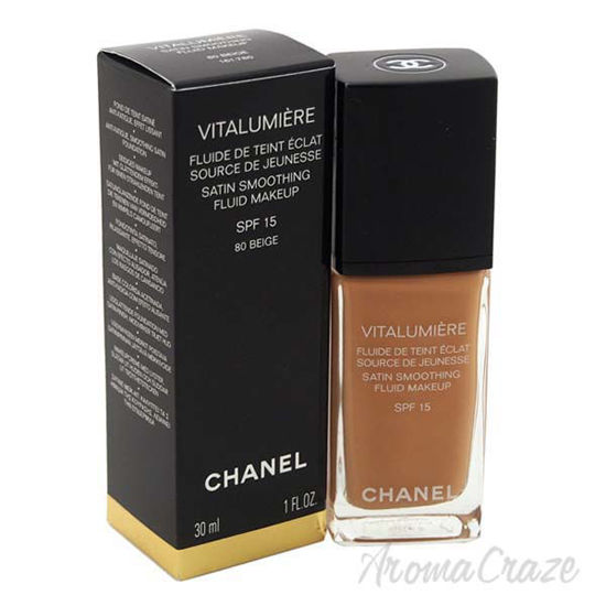 Picture of Vitalumiere Satin Smoothing Fluid Makeup SPF 15 - 80 Beige by Chanel for Women - 1 oz Foundation