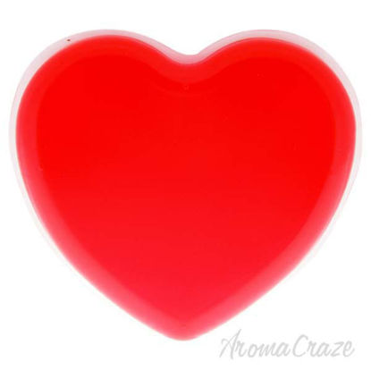 Silicone Heart Puff - Mat Red by Sun Smile for Women - 1 Pc