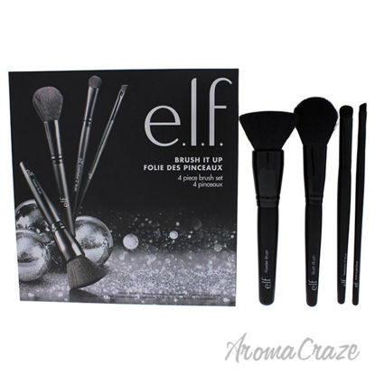 Brush It Up Set by e.l.f. for Women - 4 Pc Powder Brush, Blu