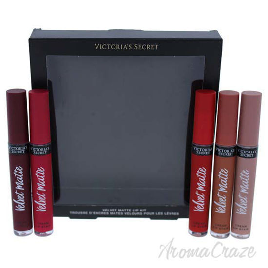 Picture of Velvet Matte Lip Set by Victorias Secret for Women - 5 Pc 5 x 0.5oz Adored - Nude, Perfection - Nude