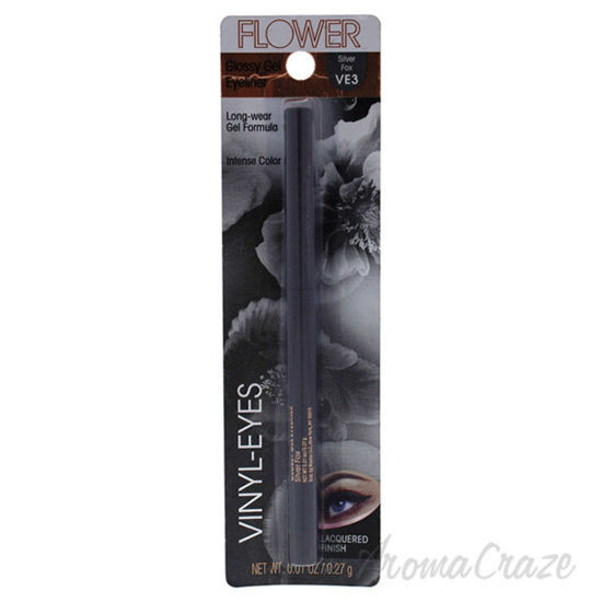 Picture of Vinyl-Eyes Glossy Gel Eyeliner - VE3 Silver Fox by Flower for Women - 0.01 oz Eyeliner