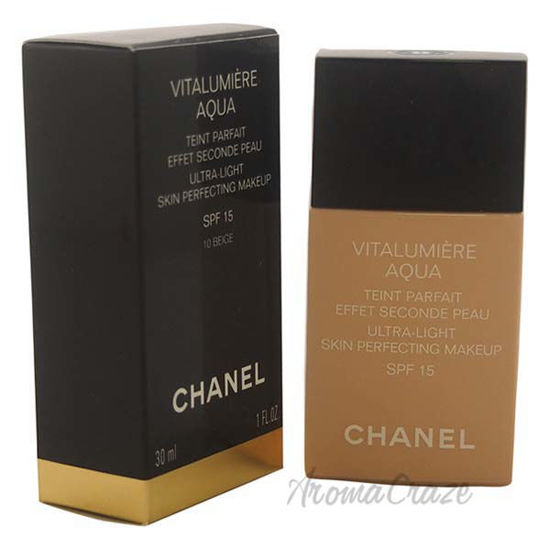 Picture of Vitalumiere Aqua Ultra-Light Skin Perfecting Makeup SPF 15 - # 10 Beige by Chanel for Women - 1 oz M
