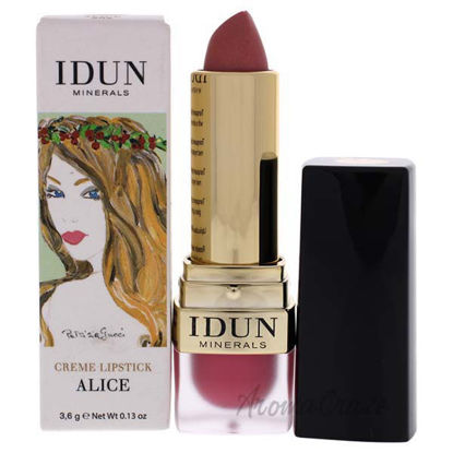 Creme Lipstick - 202 Alice by Idun Minerals for Women - 0.13