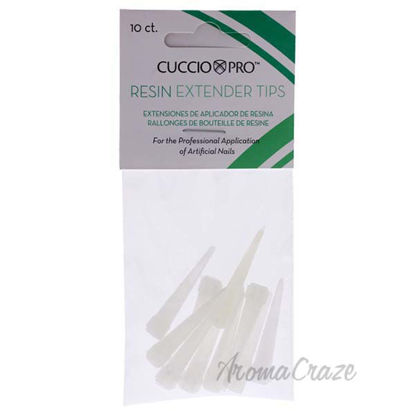 Resin Extender Tips by Cuccio Pro for Women - 10 Pc Nails Ti