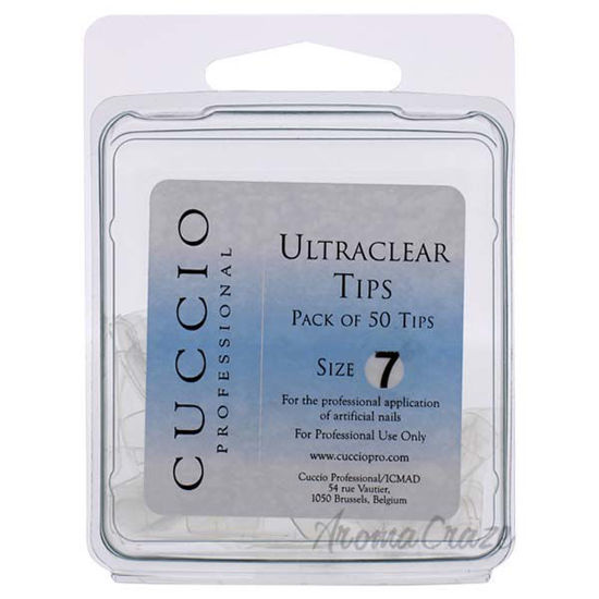 Picture of Ultraclear Tips - 7 by Cuccio Pro for Women - 50 Pc Acrylic Nails