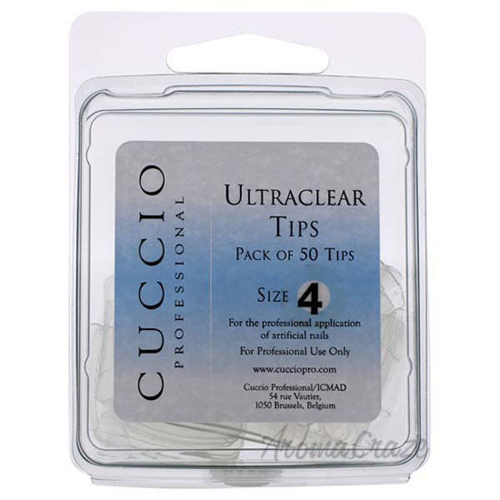 Picture of Ultraclear Tips - 4 by Cuccio Pro for Women - 50 Pc Acrylic Nails