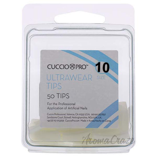 Picture of Ultrawear Tips - 10 by Cuccio Pro for Women - 50 Pc Acrylic Nails