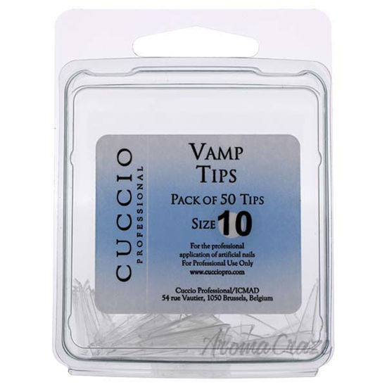Picture of Vamp Tips - 10 by Cuccio Pro for Women - 50 Pc Acrylic Nails