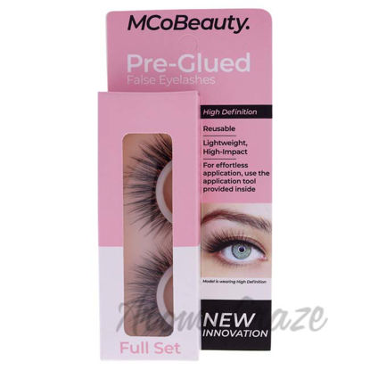 Picture of Pre-Glued False Eyelashes High Definition - Full Set by MCoBeauty for Women - 1 Pair Eyelashes