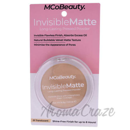 Picture of Invisible Matte Long-Lasting Pressed Powder - 01 Translucent by MCoBeauty for Women - 0.51 oz