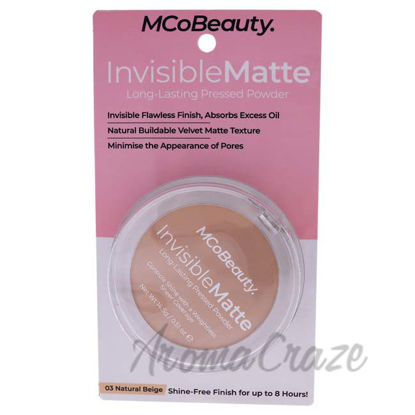 Picture of Invisible Matte Long-Lasting Pressed Powder - 03 Natural Beige by MCoBeauty for Women - 0.51 oz