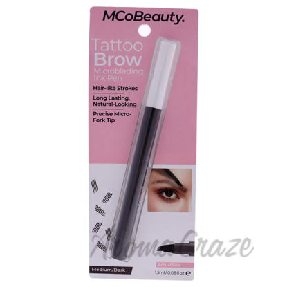 Picture of Tattoo Brow Microblading Ink Pen - Medium-Dark by MCoBeauty for Women - 0.05 oz