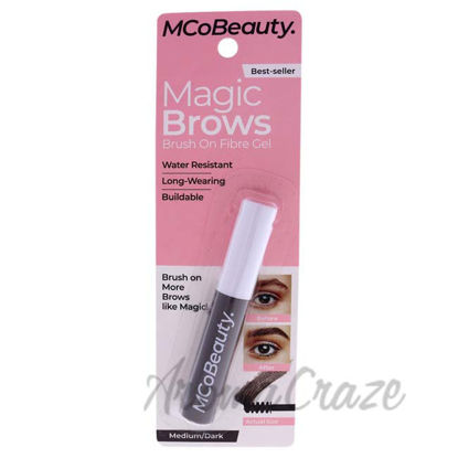Picture of More Brows Brush On Fibre Gel - Medium-Dark by MCoBeauty for Women - 0.12 oz