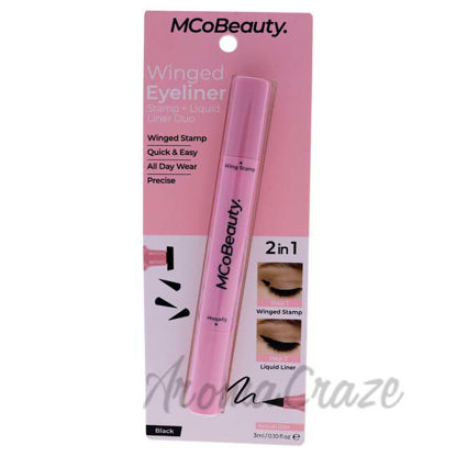 Picture of Winged Eyeliner Stamp and Liquid Liner Duo - Black by MCoBeauty for Women - 0.1 oz