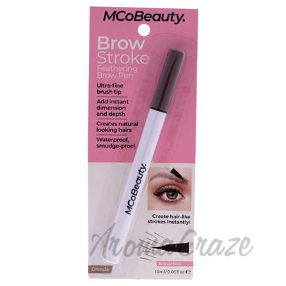 Picture of Brow Stroke Feathering Brow Pen - Blonde by MCoBeauty for Women - 0.05 oz