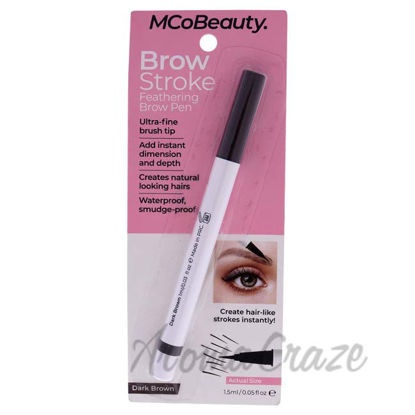 Picture of Brow Stroke Feathering Brow Pen - Dark Brown by MCoBeauty for Women - 0.05 oz