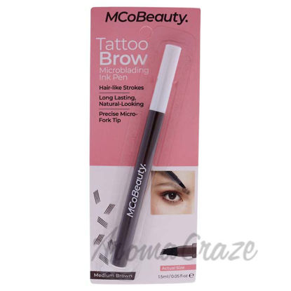 Picture of Tattoo Brow Microblading Ink Pen - Medium Brown by MCoBeauty for Women - 0.05 oz