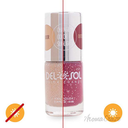 Picture of Color-Changing Nail Polish - Barely There by DelSol for Women - 0.34 oz