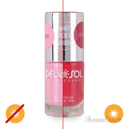 Picture of Color-Changing Nail Polish - Drops of Jupiter by DelSol for Women - 0.34 oz