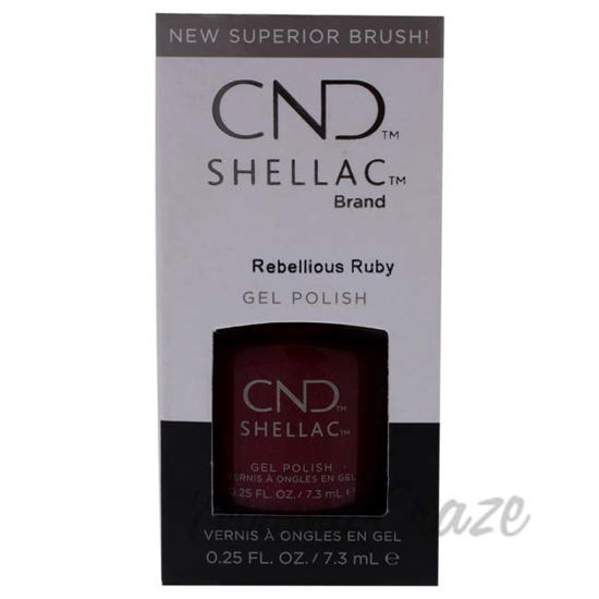 Picture of Shellac Nail Color - Rebellious Ruby by CND for Women - 0.25 oz