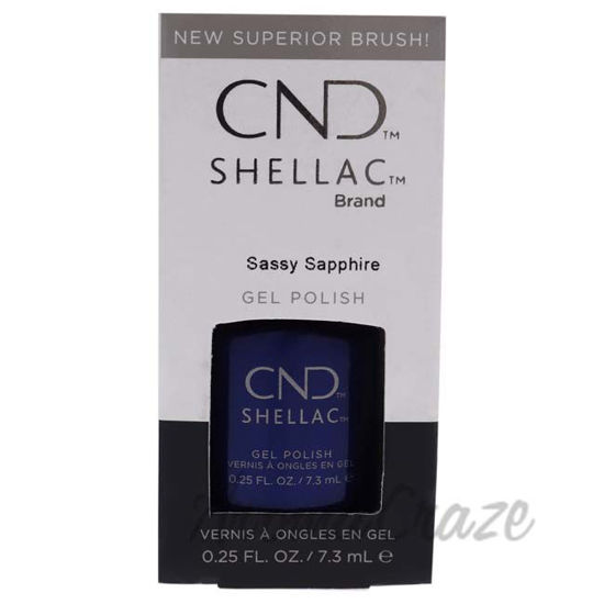 Picture of Shellac Nail Color - Sassy Sapphire by CND for Women - 0.25 oz