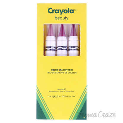 Picture of Color Crayon Trio - Mauve It by Crayola for Women - 3 x 0.07 oz Lipstick