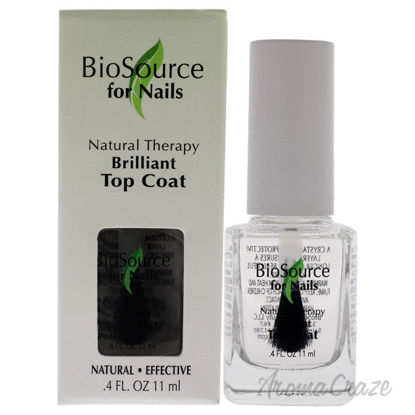 Picture of Natural Therapy Brilliant Top Coat by BioSource for Women - 0.4 oz Nail Treatment