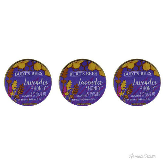 Picture of Lavander and Honey Lip Butter by Burts Bees for Unisex - 0.4 oz Lip Balm - Pack of 3