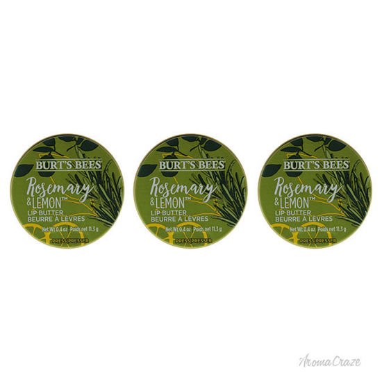 Picture of Rosemary and Lemon Lip Butter by Burts Bees for Unisex - 0.4 oz Lip Balm - Pack of 3