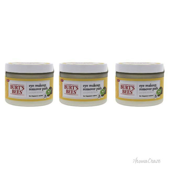Picture of Eye Makeup Remover Pads - Kiwi Extract by Burts Bees for Unisex - 35 Pc Pads - Pack of 3