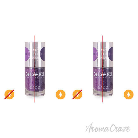 Picture of Color-Changing Nail Polish - Rocket Science by DelSol for Women - 0.34 oz Nail Polish - Pack of 2