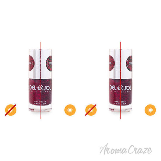 Picture of Color-Changing Nail Polish - Triple Dig it Drama by DelSol for Women - 0.34 oz Nail Polish - Pack of 2