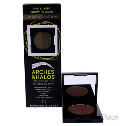 Picture of Duo Luxury Brow Powder Warm Brown by Arches and Halos for Women 0.088 oz Eyebrow