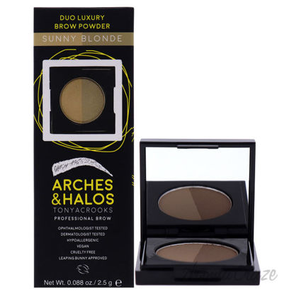 Picture of Duo Luxury Brow Powder Sunny Blonde by Arches and Halos for Women 0.088 oz Eyebrow Powder