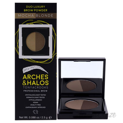 Picture of Duo Luxury Brow Powder Mocha Blonde by Arches and Halos for Women 0.088 Eyebrow Powder