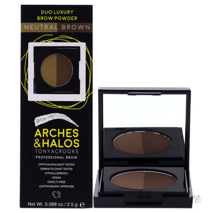 Picture of Duo Luxury Brow Powder Neutral Brown by Arches and Halos for Women 0.088 Eyebrow Powder