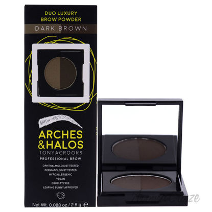 Picture of Duo Luxury Brow Powder Dark Brown by Arches and Halos for Women 0.088 oz Eyebrow Powder