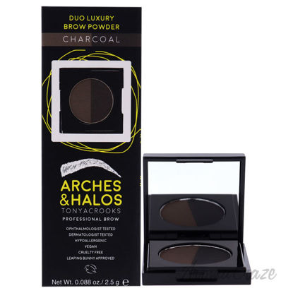 Picture of Duo Luxury Brow Powder Charocoal by Arches and Halos for Women 0.088 oz Eyebrow Powder