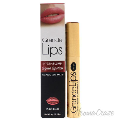 Picture of GrandeLIPS Plumping Liquid Lipstick Metallic Semi Matte Peach Bellini by Grande Cosmetics for Women 0.14 oz Lipstick