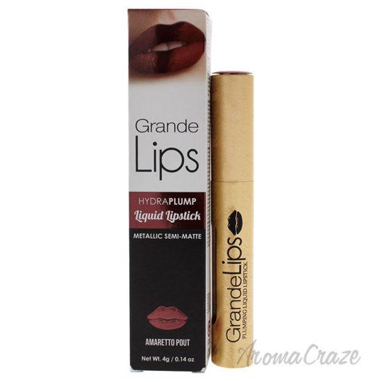 Picture of GrandeLIPS Plumping Liquid Lipstick Metallic Semi Matte Amaretto Pout by Grande Cosmetics for Women 0.14 oz Lipstick